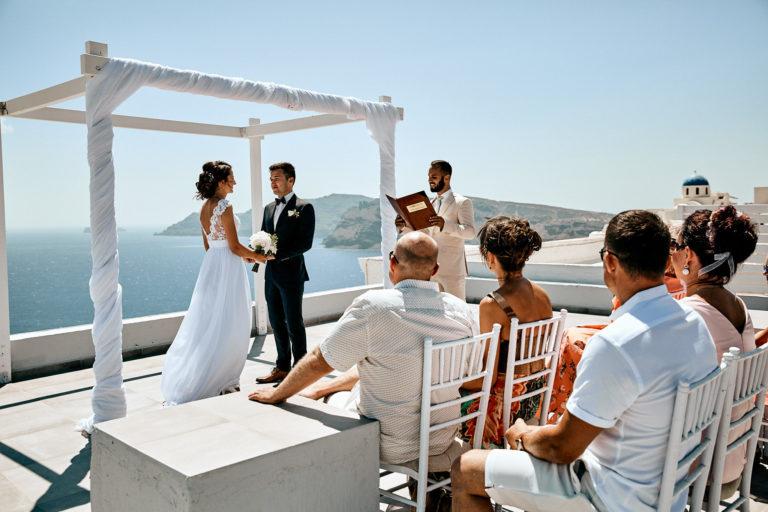 Hochzeit Kerttu & Asko in Santorini